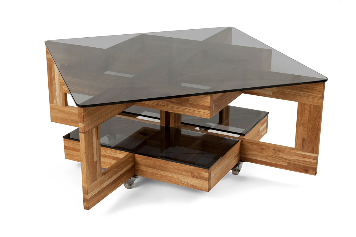 Table basse fly verre wenge for Fly table salon